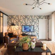 Rénovation appartement Soultz, vue large salon